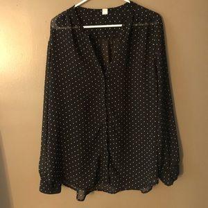 Tops - Old Navy polka dot blouse
